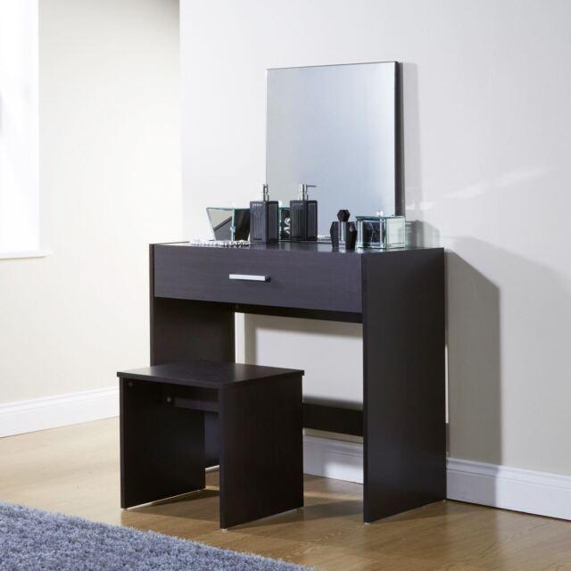 Julia White Dressing Table Mirror Modern Vanity Desk Make Up 1 Drawer  Bedroom | EBay