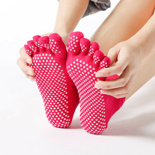 winter Cotton laminate floor. grip to tile Yoga Women Anti-slip toe socks