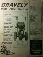 Gravely L Li Ls 2-wheel Garden Tractor Owner Operating & Parts Manual 28pg 1960