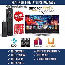 JALBR0KEN AMAZON FIRE TV STICK W/ALEXA K O D I 17.3TV SHOWS MOVIES SPORTS CH