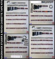 Revox Studer Cassette Tape Overhaul Service Kits A710 A721 B710 B215
