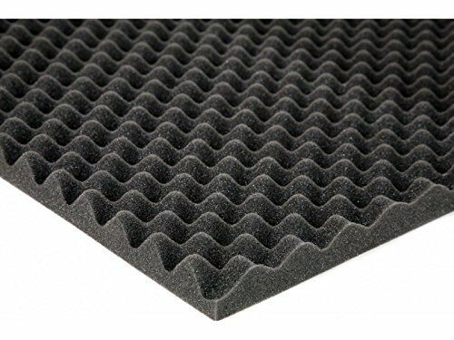 2-1 2  x 72  x 80  Charcoal Acoustic Studio Eggcrate Foam 40 sq. ft
