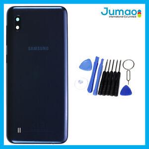 Vitre-arriere-capot-cache-batterie-Noir-avec-Lentille-Adhesif-Pour-Samsung-A10