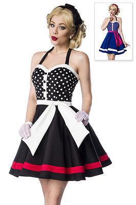 ATX 50030 50er Kleid Rockabilly Retro Vintage Neckholder Look blau oder schwarz