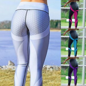 57737306a0d Details about Womens Sport Compression Fitness Leggings Running Yoga Gym  Pants Workout Wear US