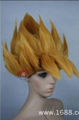 Dragon Ball Goku Super Saiyan COS New Short Blonde Cosplay First explosion Wigs