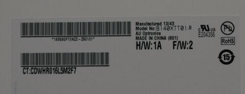 TOUCH HD 034 1366x768 AU Optronics B140XTT01.0 14.0-inch WideScreen WXGA