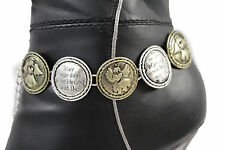 Women Boot Chains Anklet Bracelet Shoe Bleessed By Angel Wing Baby Charm Jewelry