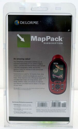 SEALED NEW Delorme MapPack Earthmate//Topo GPS 1-year Subscription USA//Canada Map