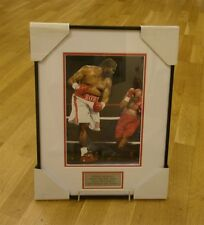 Riddick Bowe signed photo mount and framed, photo evidence