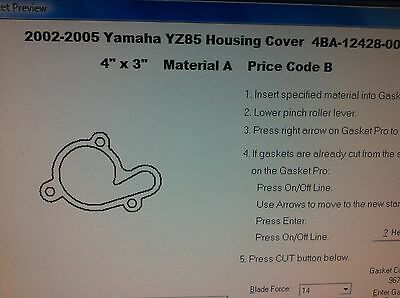 Yamaha YZ85 Water Pump cover Gasket  2002 2003 2004 2005