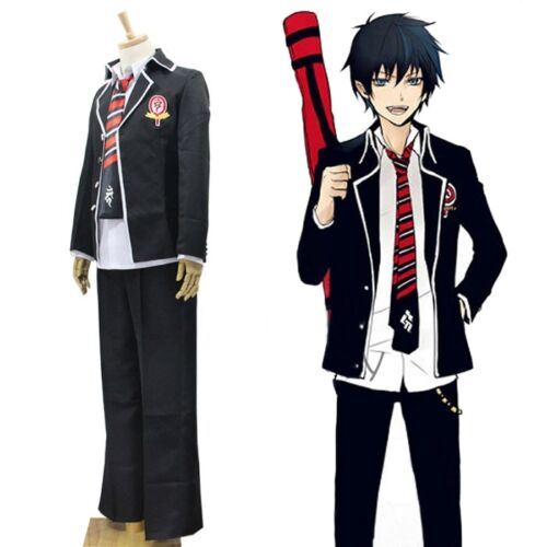 New Ao no Blue Exorcist Rin Okumura suit Cosplay Costume