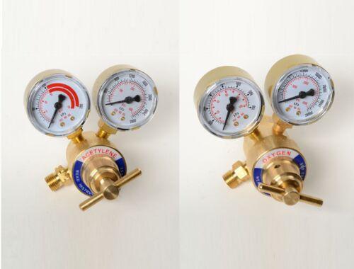 Solid Brass OXYGEN /& ACETYLENE Regulators 4 Welding Fit Victor Gas Torch Cutting