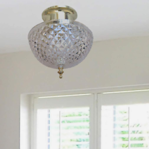 Cloth Bubble Lamp Shade Lampshade Clip-on Screw-on Bulbs Ceiling Lamp Cover