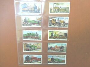 1963 Kellogg cereal THE STORY OF THE LOCOMOTIVE Trade set 16 cards like tobacco