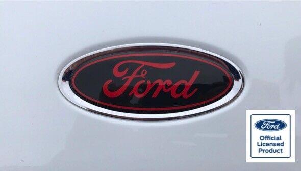 Ford Fiesta Mk6 Gel Badge Overlays ST Zetec S ZS Black Red Ford Badges Set of 3