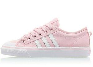 NEW Size6 Women's zu White Originals 39 Details Adidas Nizza ®UK EU 5Pink 80wOnPkX