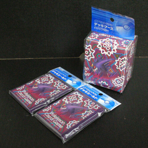 Pokemon Card XY Mega Gengar Official Sleeve 2 Packs (64) + 1 x Deck Case Set