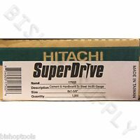Hitachi 17502 1000ct Superdrive Cement & Hardboard To Steel Screws Durock