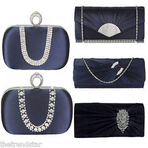 New-Women-Navy-Handbag-Celebrity-Wedding-Prom-Ladies-Clutch-Purse-Evening-Bag