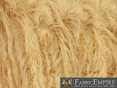 "Faux Fur Fabric Long Pile GORILLA / 60"" Wide / Sold by the yard"