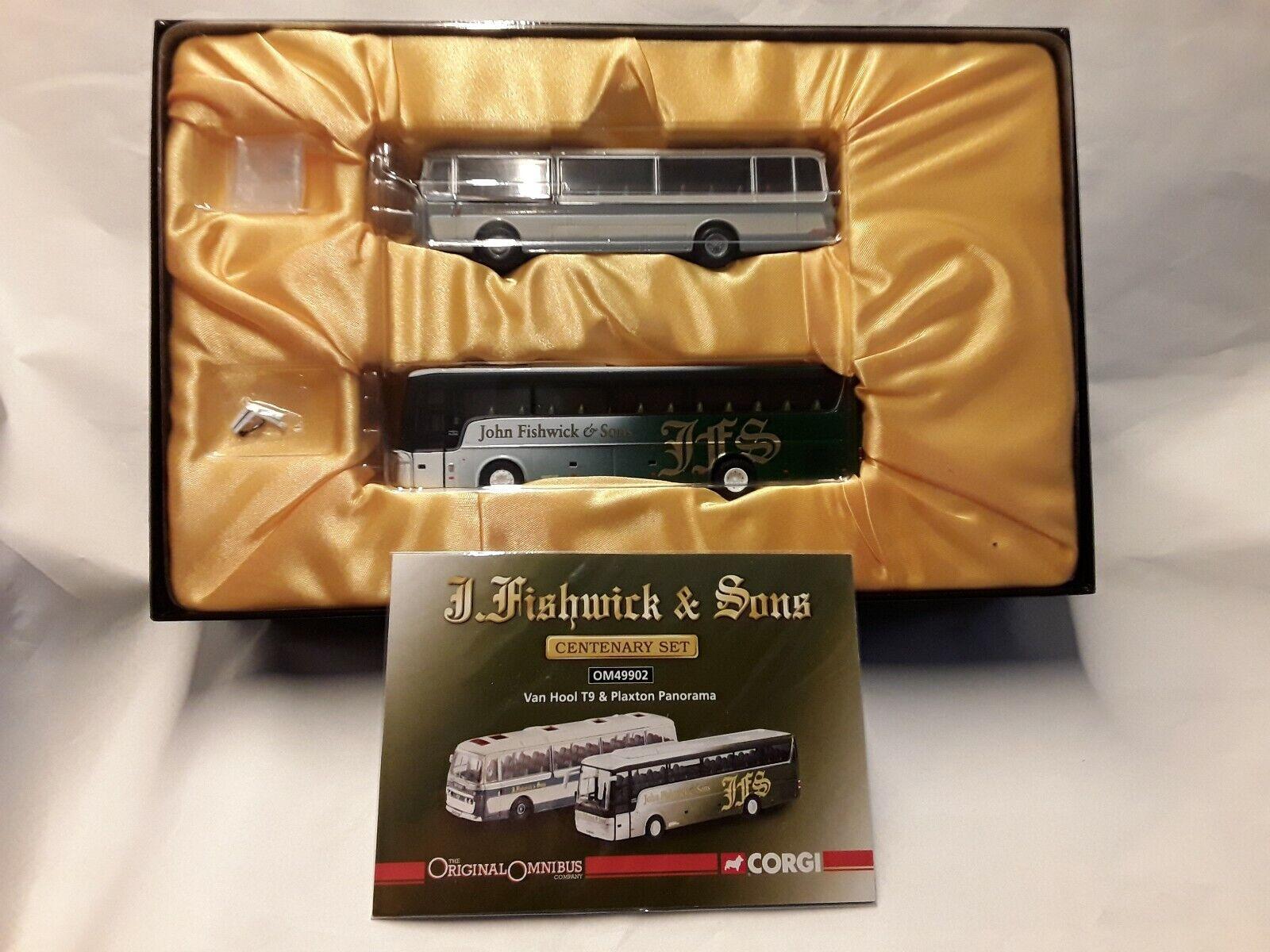Van HOOL T9 & Plaxton Panorama Centenary  SET  2 x Omnibus  1 76 Corgi