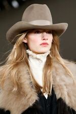 PATRICIA UNDERWOOD for RALPH LAUREN 100% WOOL MINK RANCH HAT SIZE S/M MADE IN US