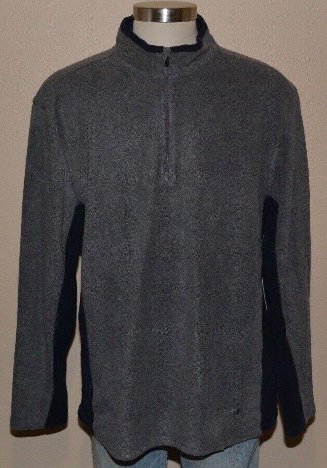 NordicTrack Grey Navy Soft Fleece Pullover 1//4 Zip Sweater Men/'s XXL 2XL NWT