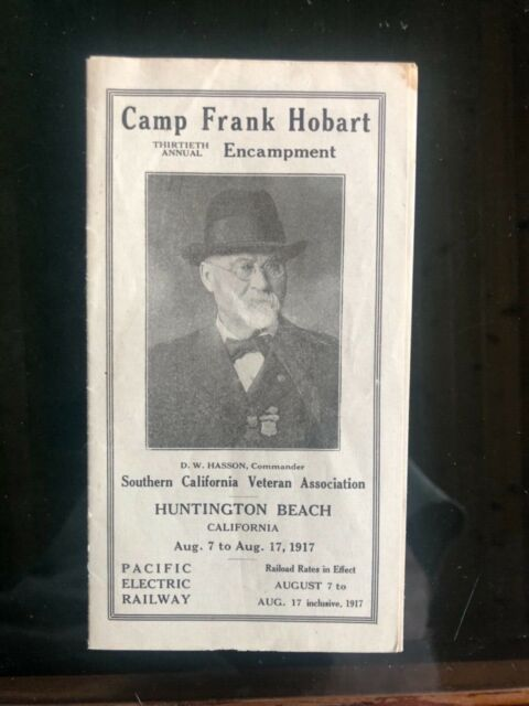 1917 So Cal Civil War Veterans Pacific Electric Railway Brochure