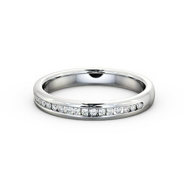 0.20 Carat Round Diamond Half Eternity Wedding Engagement Ring 9K White gold