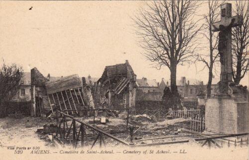 GUERRE 14-18 WW1 SOMME AMIENS 520 LL cimetière de saint-acheul