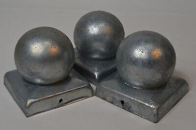 2 x Pfostenkappe verzinkt 10,1x10,1cm Kugel Abdeckkappe Pfostenkappe 100x100mm