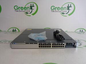Scratches-Cisco-WS-C3750X-24P-S-24-Port-PoE-Gigabit-3750X-Switch-w-1x-PSU-Ears