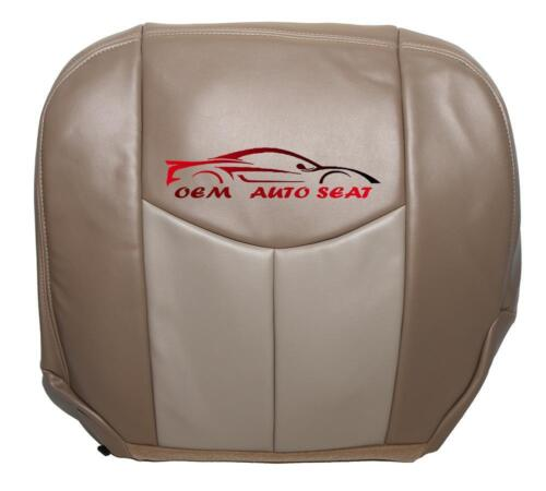 2003 2004 GMC Yukon Denali 4 Door Driver Side Bottom Vinyl Seat Cover 2-TONE TAN