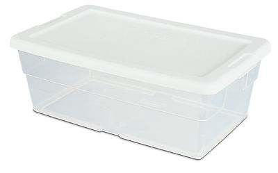 Clear Storage Box with White Lid Shoe Box Plastic Container Clear Organize