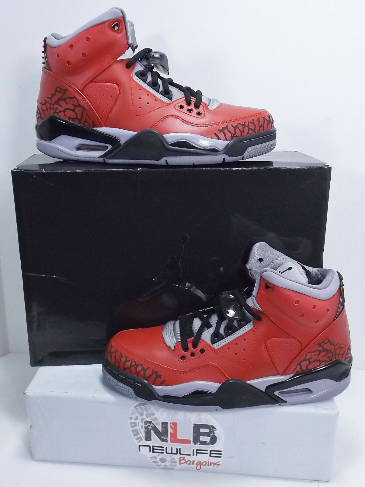 Nike Jordan Rare Air 407361-601 Varsity Red/Black/Cement Grey Men's Comfortable New shoes for men and women, limited time discount