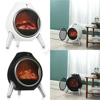 FoxHunter 1.8KW Electric Fireplace Log Fire Heater Burner Oval LED Flame Effect