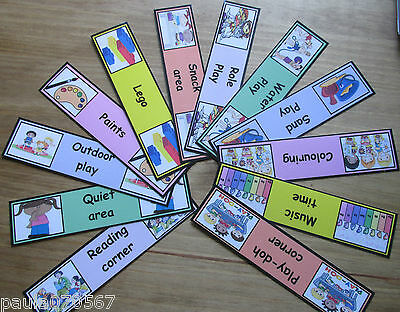 Toy room activities labels~full colour cards~Childminder~Nursery~Pre-Schools~