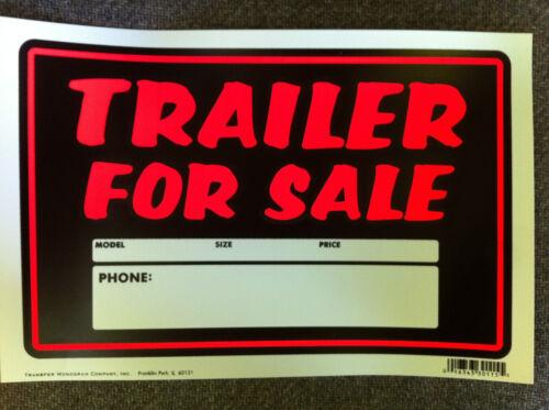 Weatherproof Plastic Vinyl Trailer For Sale Sign Package of 10