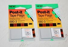 Post It Tape Flags 680 8 Green Office Supply New Lot Of 12 Bookmark School