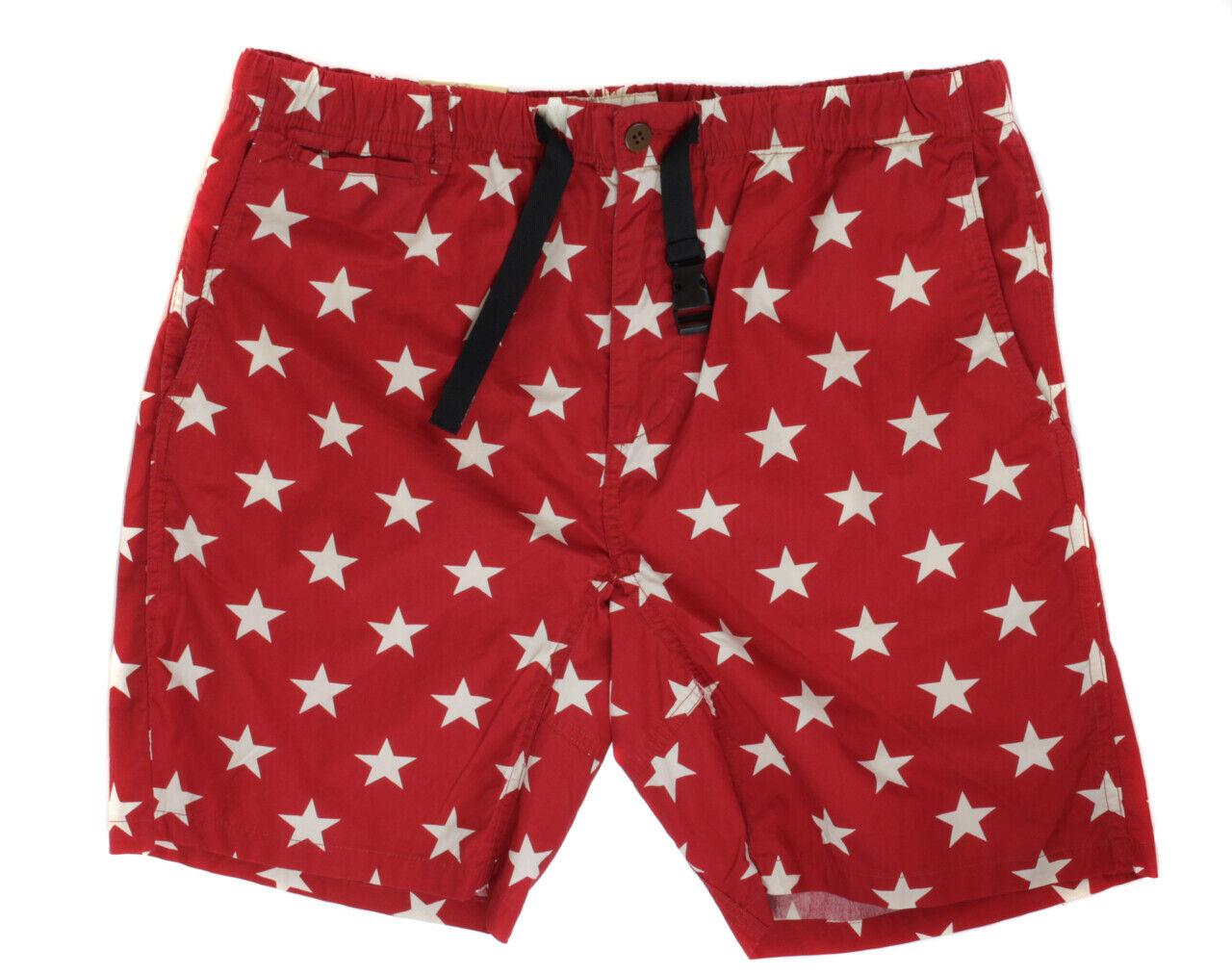 Ralph Lauren Denim & Supply Men's Red & White Elastic Shorts Ret  New