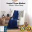 thumbnail 2 - Electric Heated Throw Blanket Indoor Outdoor Winter Plush Washable Rug 200x180cm