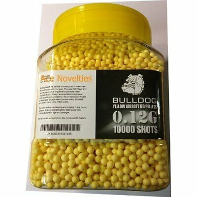Bulldog High Pro Grade 6mm 0.12g Light Weight Yellow BB Pellets x 10000 Tub