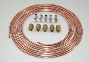 Bremsleitung Bremsrohr Kupfer 10m 4,75mm 10x Überwurfmutter 10x Verschraubung