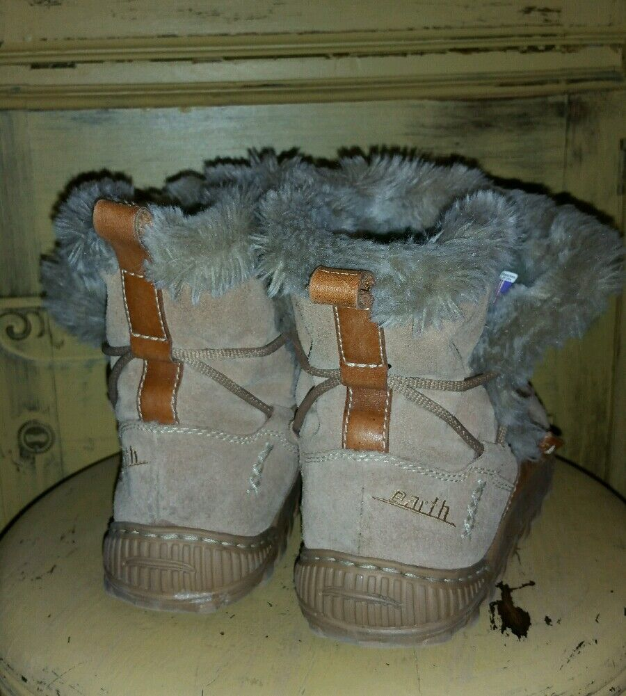 EARTH Schuhe Stiefel THINSULATE FAUX FUR 7 SUEDE WINTER BROWN LADIES 7 FUR M FLEECE LINED bfa16d