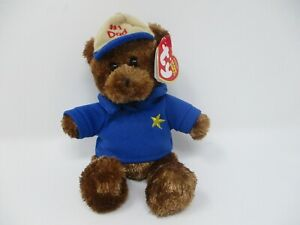Ty Beanie Baby #1 Dad Dear Dad Father's Day Bear 2006 With Tag
