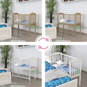 babybett absenkbare seite rollen wiege faltbar beistellbett matratze ebay. Black Bedroom Furniture Sets. Home Design Ideas