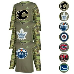 NHL Adidas Men's Camo 2017-18 Authentic Armed Forces Camo Practice ...