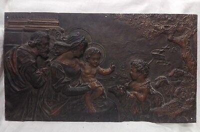 Arte E Antiquariato Placca In Bronzo Fine '800 Primi '900 Cm 37x65 Antikidea Altri Complementi D'arredo