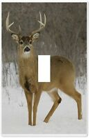 Deer Buck In Snow Wallplate Wall Plate Decorative Light Switch Plate Cover